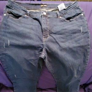 Lee slimming fit skinny leg jeans size 16 nwot